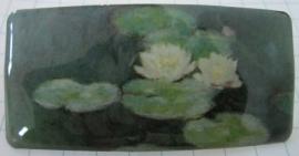 Haarspeld rechthoek witte wterlelies Claude Monet HAR 104