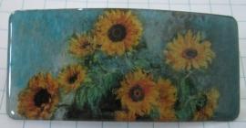 Haarspeld rechthoek zonnebloemen Claude Monet HAR 208