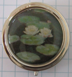 PIL 127 pillendoosje witte waterlelies Monet
