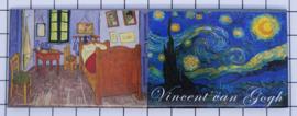 10 stuks koelkastmagneet Van Gogh panorama  MAC:21.402