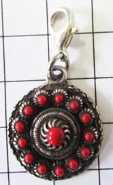 ZKG418-R rode emaille clipje zeeuwse knop