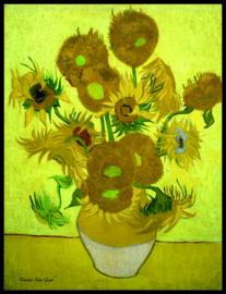 pak 25 posters (35.5 cm x 27.2 cm) POS201 Zonnebloemen Vincent van Gogh