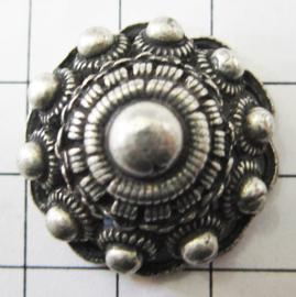 ZKP209 bolle zeeuwse knop zonder oog