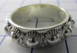 ZKR002-Z Zeeuwse Knop echt Zilver