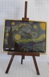 SCH 207 Schildersezeltje 22 cm hoog met sterrennacht van Vincent van Gogh