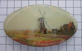 Haarspeld ovaal HAO 304 Molen Claude Monet