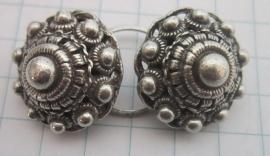 boord/hemd knopen met ring, per paar, ZKK809