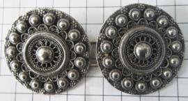 ZKG409 Broekstukken Zeeuwse knoop 5 cm doorsnede zwaar verzilverd