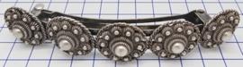haarspeld 10 cm zeeuwse knopjes verzilverd