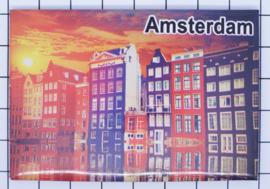 10 stuks koelkastmagneet Amsterdam  grachtenhuizen zonsondergang 18.973