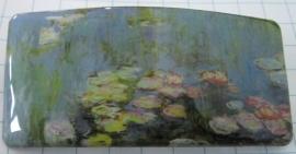 Haarspeld rechthoek blauwe waterlelies Claude Monet HAR 103