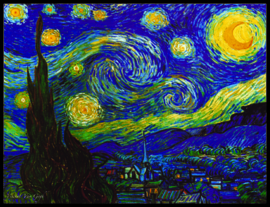 pak 25 posters (35.5 cm  x 27.2 cm) POS206 Sterrennacht Vincent van Gogh