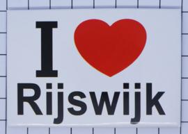 10 stuks koelkastmagneet I love Rijswijk N_ZH11.001