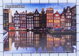 10 stuks koelkastmagneet Amsterdam  grachtenhuisjes MAC:19.028