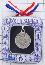 HAN 101 collier kwartje, zwaar verzilverd
