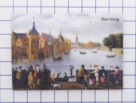 N_ZH3.002 koelkastmagneet Den Haag , pakje 10 stuks