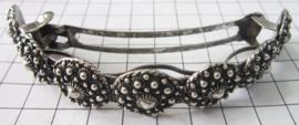 ZKG438 Haarclip Zeeuwse knoop zwaar verzilverd, extra groot voor heel dik haar