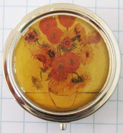 PIL 401 pillendooje oude zonnebloemen van Gogh