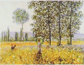 pak 50 stuks Kwaliteitsposters 35 x 45 cm  veld - Claude Monet