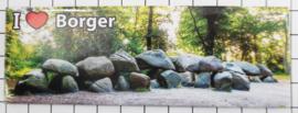 P DR2.0002 Plaatsnaambord koelkastmagneet I love Borger 10 stuks