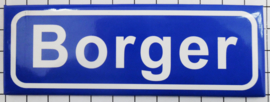 P DR2.0001 Plaatsnaambord koelkastmagneet Borger 10 stuks
