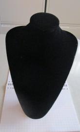 no 2 hals zwart velours, groot