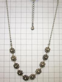ZKC705 10-Zeeuwse knopjes collier met oogjesrand