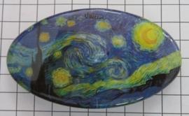 Haarspeld ovaal HAO 409 sterrennacht Vincent van Gogh