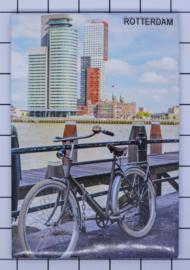 N_ZH1.026 koelkastmagneet Rotterdam, pakje 10 stuks