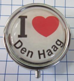 PIL_ZH3.001 pillendoosje met spiegel I love Den Haag