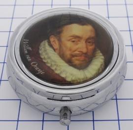 PIL 517 pillendoosje met spiegel Willem van Oranje