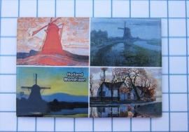 10 stuks koelkastmagneet Holland 20.526 combinatie Mondriaan