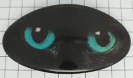 Haarspeld zwarte poezenogen HAO 015
