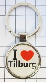 SLE_NB2.001 Sleutelhanger I love Tilburg