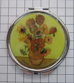 SPI 203 spiegeldoosje nw zonnebloemen van Gogh