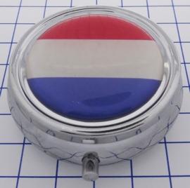 PIL 510  pillendoosje met spiegel  Nederlandse vlag