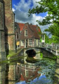10 stuks poster op karton Vrouwe van Rijnsburgerbrug POS-0055 posters(20.8Cm / 29.5Cm)