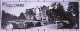 10 stuks koelkastmagneet Amsterdam  zwart-wit 22.021