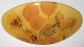 Haarspeld ovaal nieuwe zonnebloemen van Gogh HAO 203