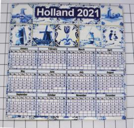 10 stuks Mega koelkastmagneet Holland kalender 2021 MEGA_V_CAL.004