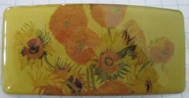 Haarspeld rechthoek oude zonnebloemen van Gogh HAR 206