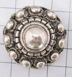 ZKP208 bolle holle zeeuwse knop groot zonder bevestigingsoog