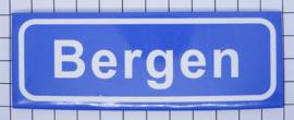 10 stuks koelkastmagneet  plaatsnaambord Bergen P_NH6.0001