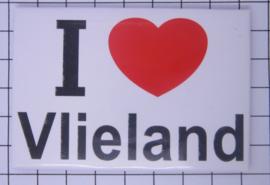 10 stuks koelkastmagneet I love  Vlieland N_FR8.001
