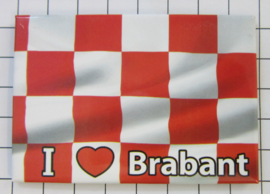 10 stuks koelkastmagneet I love Noord Brabant   N_NB5.001