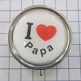 PIL 043 pillendoosje met spiegel ik hou van papa vaderdag cadeau tip