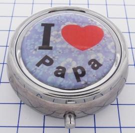 PIL 089 pillendoosje met spiegel ik hou van papa