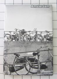 10 stuks koelkastmagneet Amsterdam  fietsen zwart wit MAC:19.001