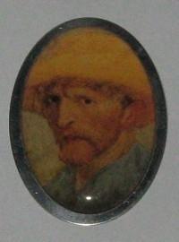 BRO 202 Broche met zelfportret Vincent van Gogh