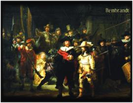 pak 25 posters (35.5 cm x  27.2 cm) POS002 Nachtwacht Rembrandt